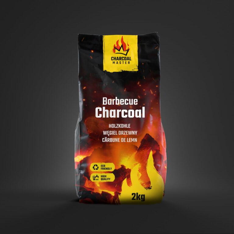 Prezentacja projektu opakowania węgla drzewnego firmy Charcoal Master