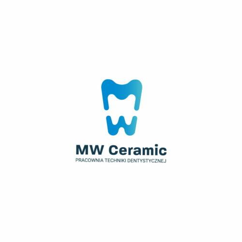 Projekt graficzny logo pracowni dentystycznej MW Ceramic