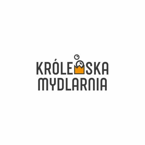 Projekt logo marki kosmetycznej Królewska Mydlarnia, produkującej mydło