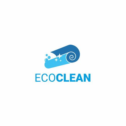 Projekt logo stworzony przez Studio Graficzne Wzór dla pralni Eco Clean
