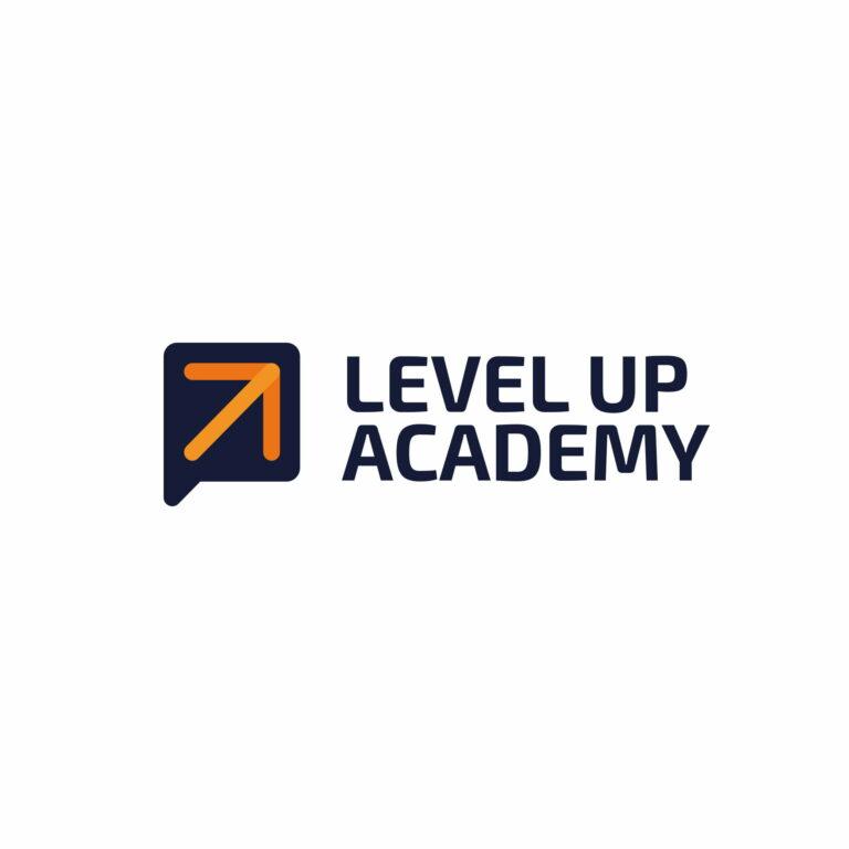 Logo firmy szkoleniowej Level Up Academy
