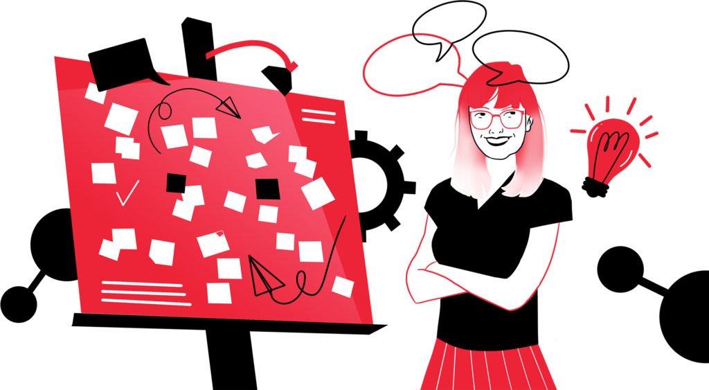 Projektowanie z budzetem o zl. Ilustracja 2 bold 1024x563 1 | studio graficzne wzór | jak stworzyć jednoosobowy warsztat design thinking? Design thinking z budżetem 0 zł |