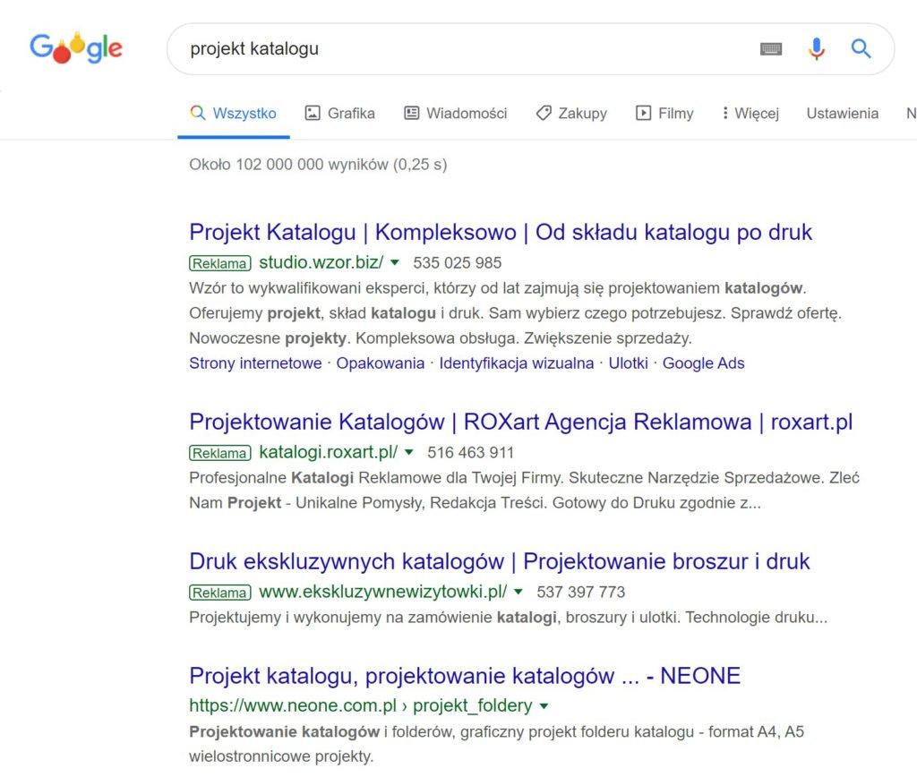 Reklama w wynikach wyszukiwania 1024x868 1 | studio graficzne wzór | czym są reklamy google ads i dlaczego warto w nie inwestować? |