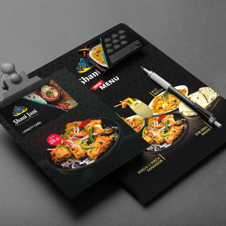 Projekt identyfikacji wizualnej restauracji Shani Jani