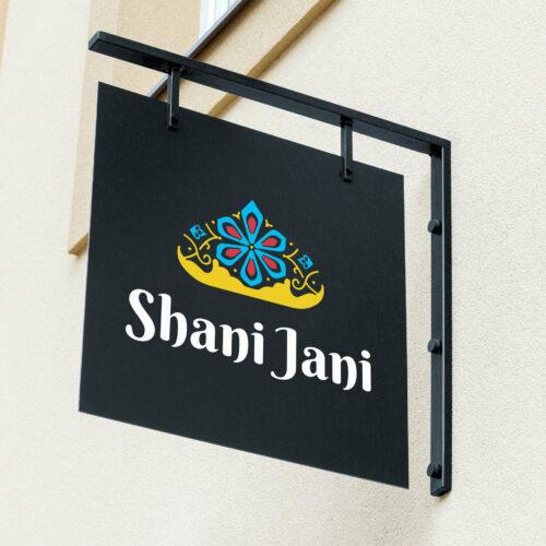 Projekt graficzny banneru restauracji Shani Jani