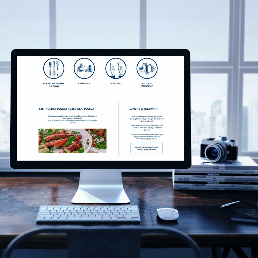 Projekt strony www restauracji Insomnia