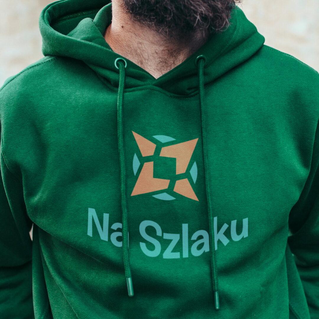 Bluza męska z identyfikacją wizualną firmy turystycznej Na Szlaku
