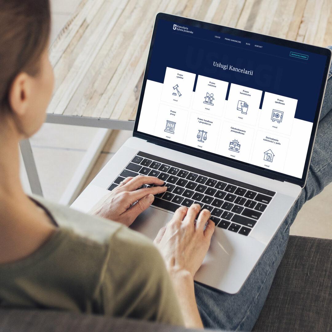 Strona Internetowa z usługami kancelarii prawnej Sylwii Jezierskiej