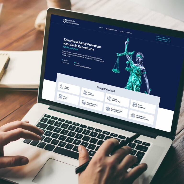 Prezentacja strony internetowej kancelarii prawnej Sylwii Jezierskiej