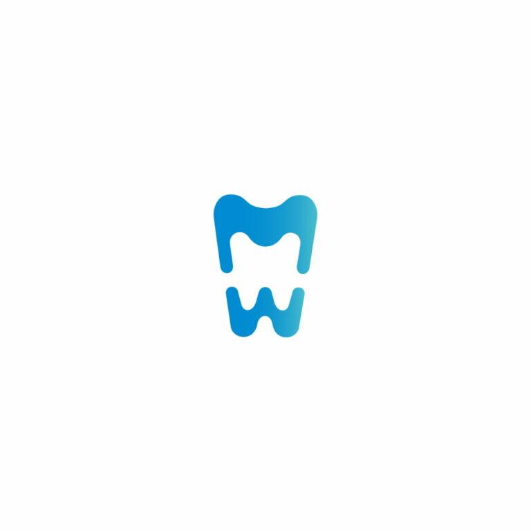 Sygnet logo pracowni dentystycznej MW Ceramic