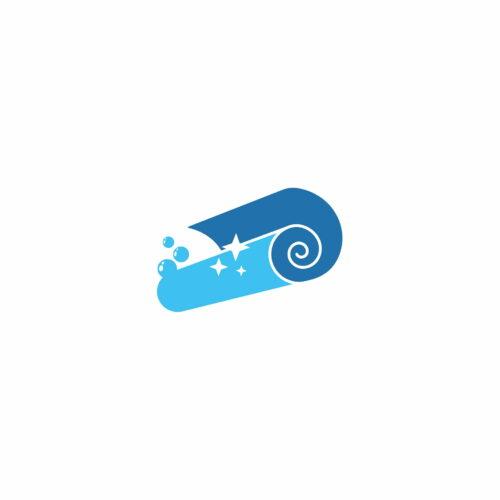 Sygnet logo pralni co Clean zaprojektowany przez Wzór studio Graficzne z lublina