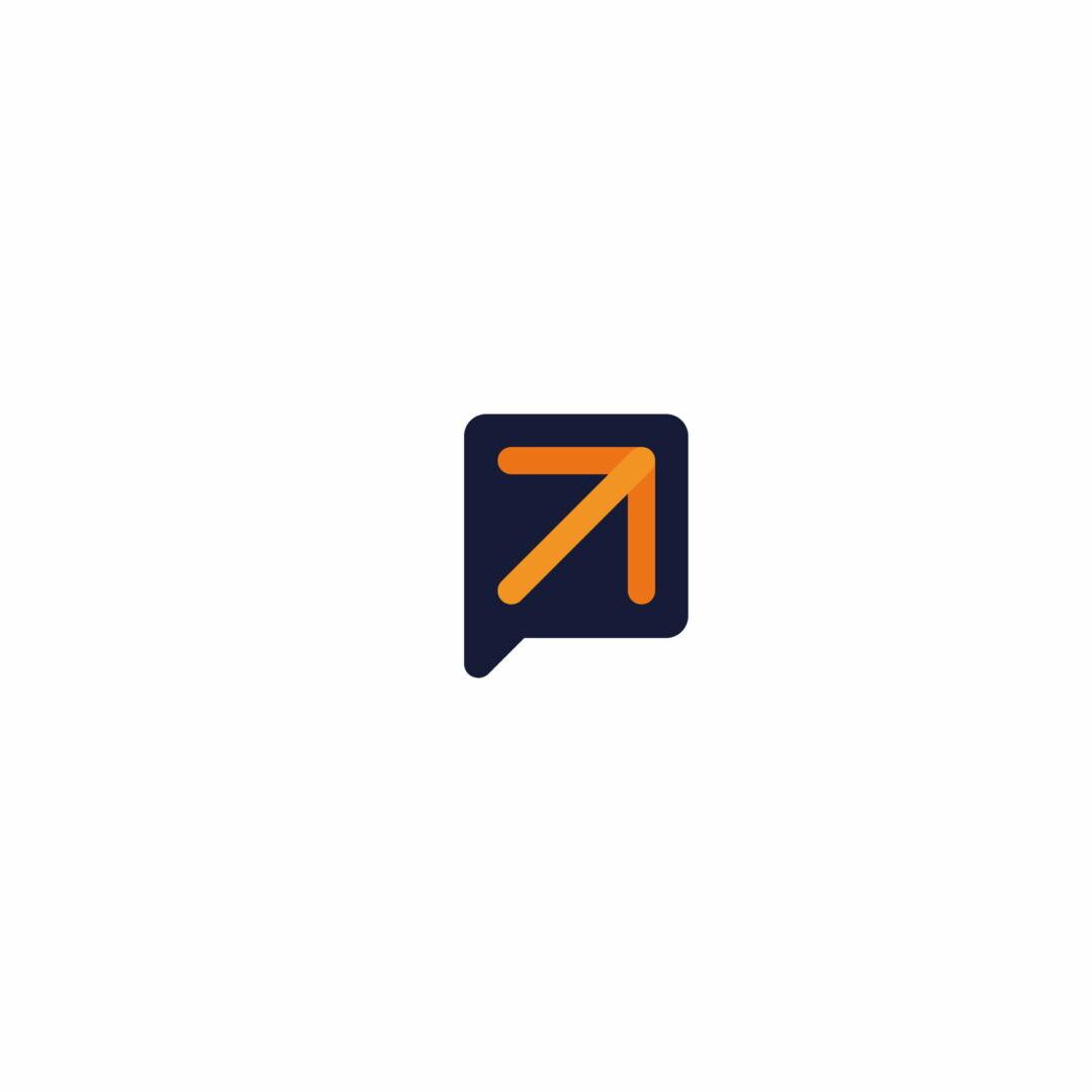 Sygnet logo firmy szkoleniowej Level Up Academy