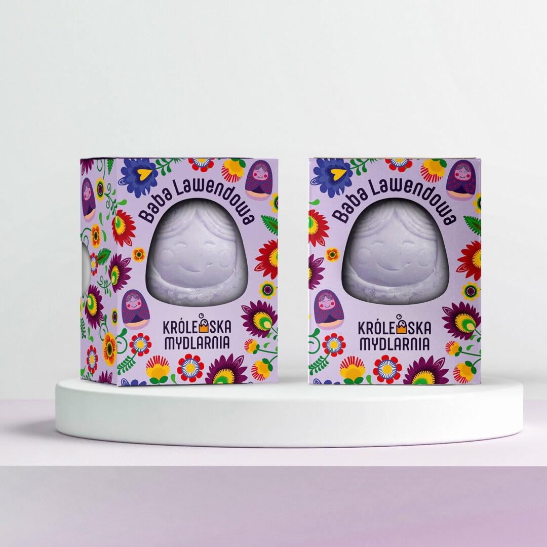 Projekt opakowań mydła firmy Królewska Mydlarnia