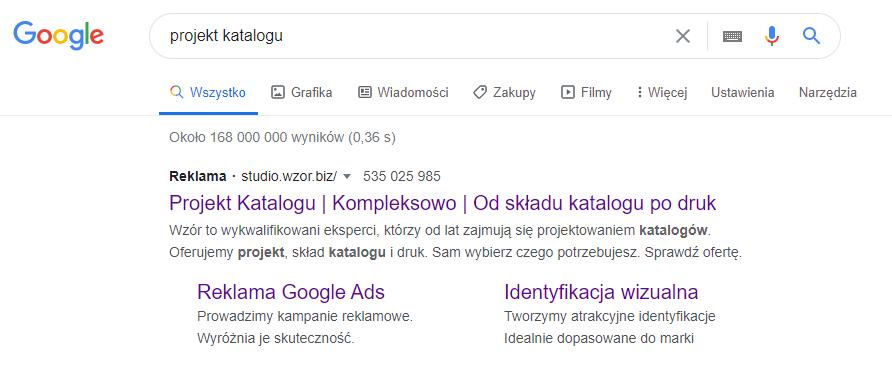 reklama tekstowa google ads