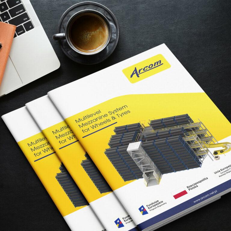 Katalogi zaprojektowane przez Studio Graficzne Wzór dla firmy z branży przemysłowej #arcom