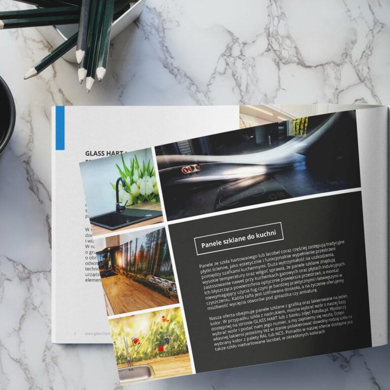 Projekt katalogu z ofertą firmy budowlanej #glass-hart