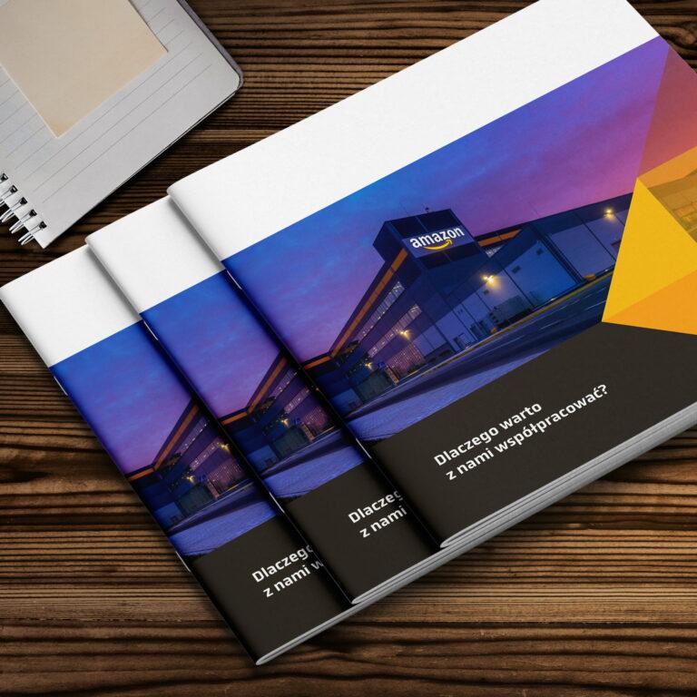 Folder reklamujący usługi instalacyjne #grenbud