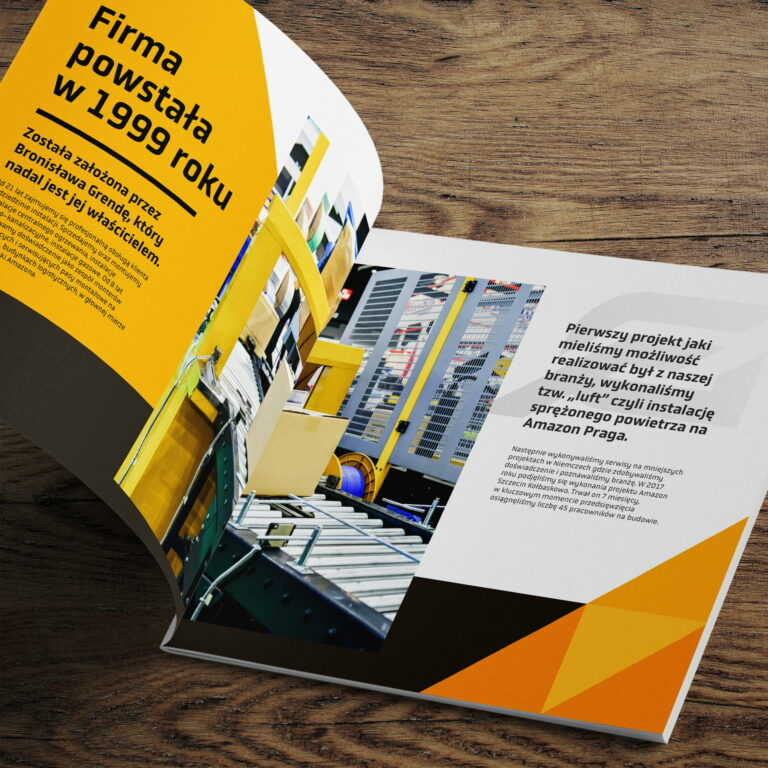 Wizualizacja katalogu reklamujący usługi instalacyjne #grenbud