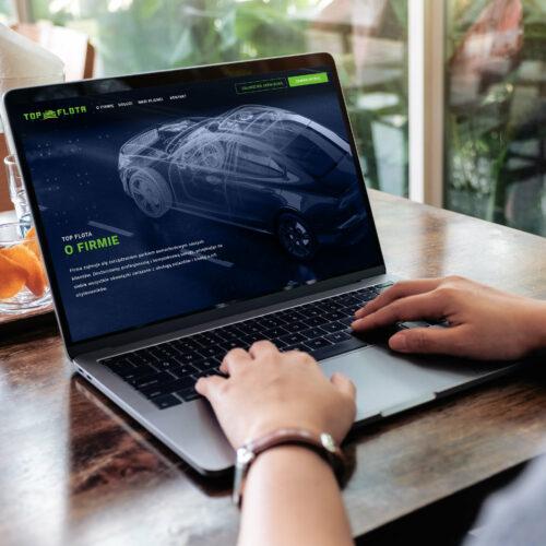 Projekt strony www dla firmy #top-flota z branży samochodowej