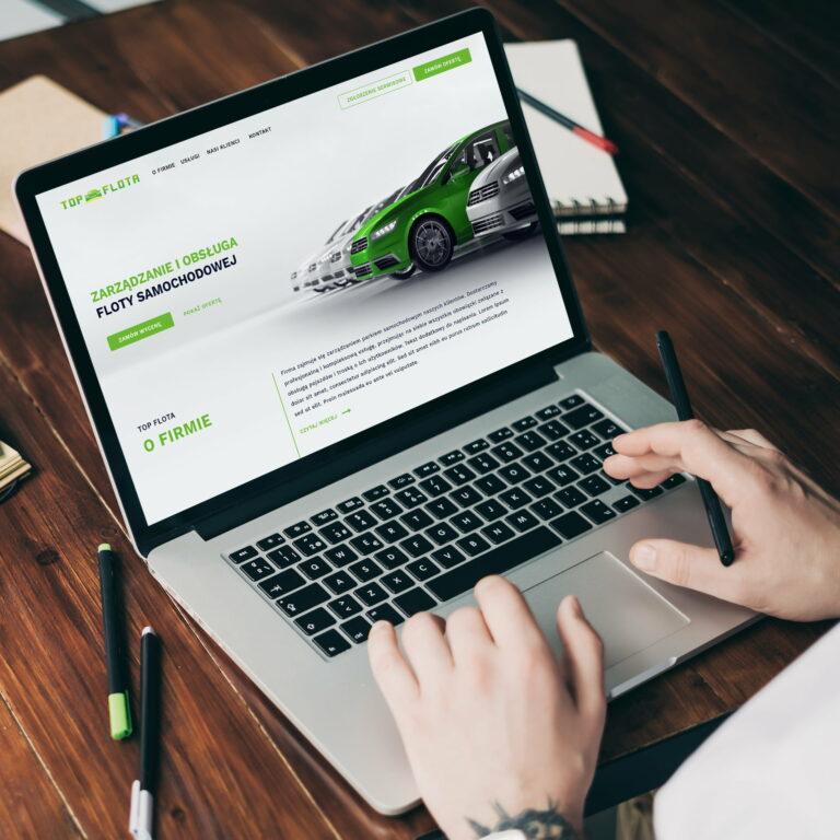 Prezentacja projektu strony internetowej marki #top-flota z branży samochodowej