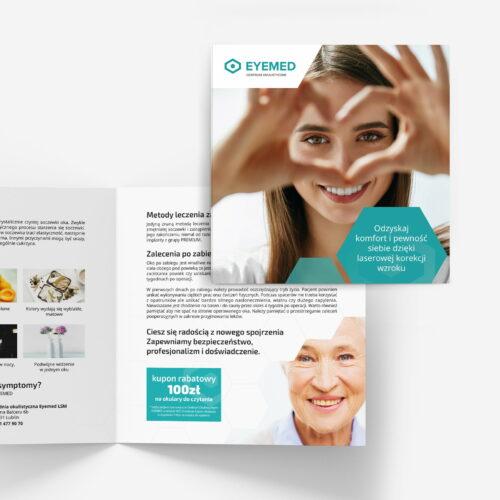 Wizualizacja projektów graficznych dla kliniki okulistycznej #eyemed