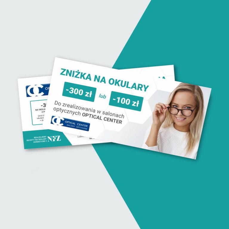 Projekty ulotek dla kliniki okulistycznej z Lublina #eyemed