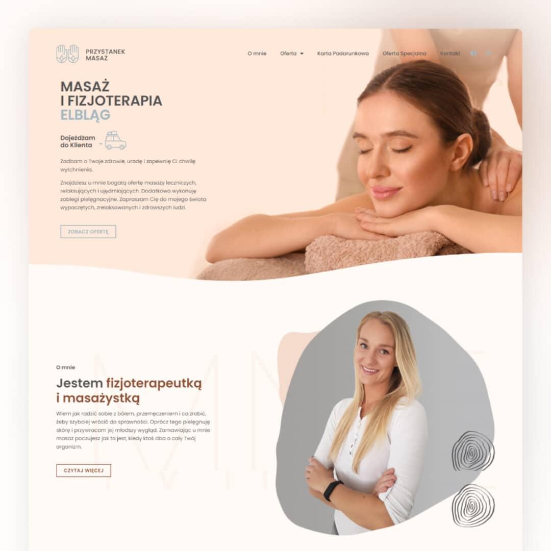 Strona wizerunkowa studia masażu #przystanek masaż