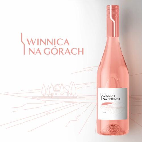 Projekt etykiety na wino marki #winnica-na-górach