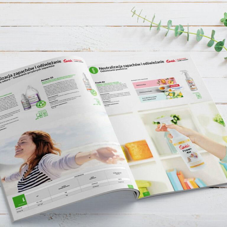 Wizualizacja projektu katalogu ze środkami czystości firmy #swish