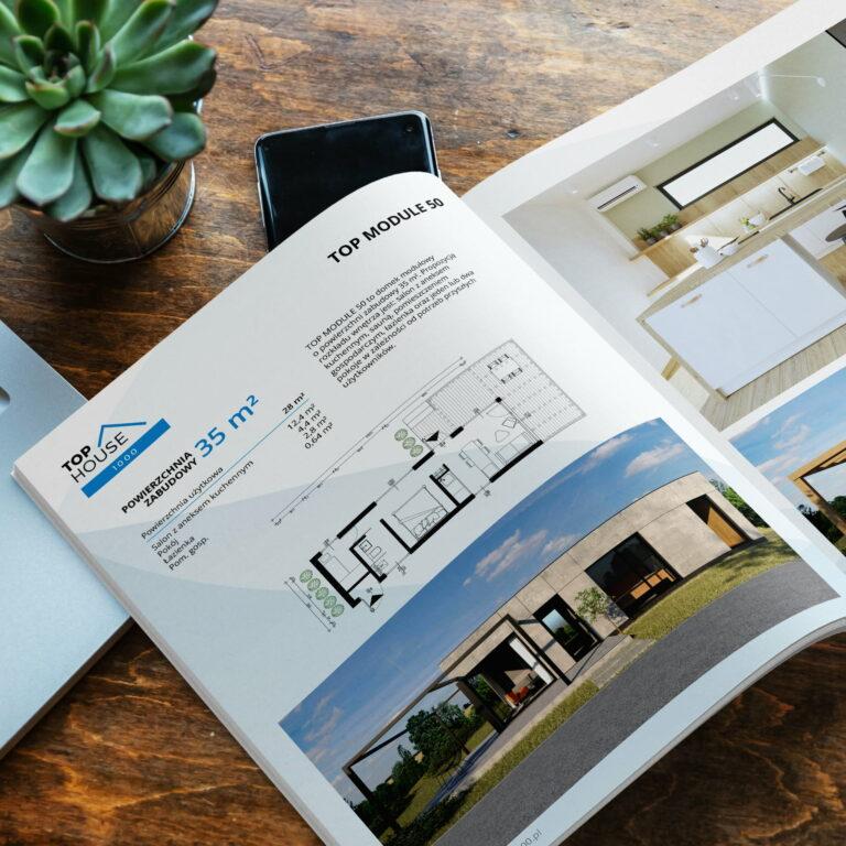 Projekt katalogu z ofertą domów #top-house-1000