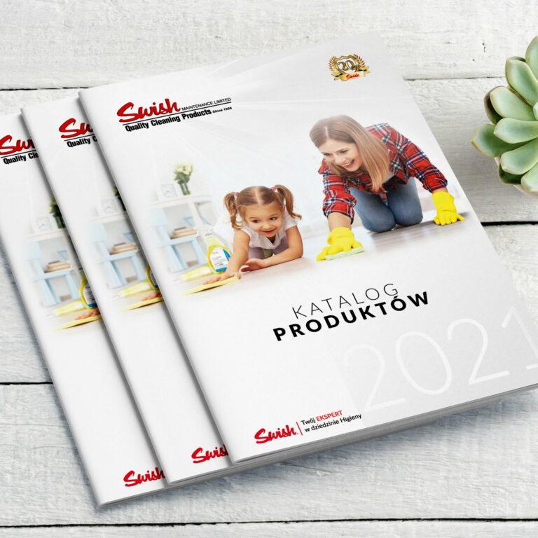 Projekt graficzny okładki katalogu ze środkami czystości marki #swish