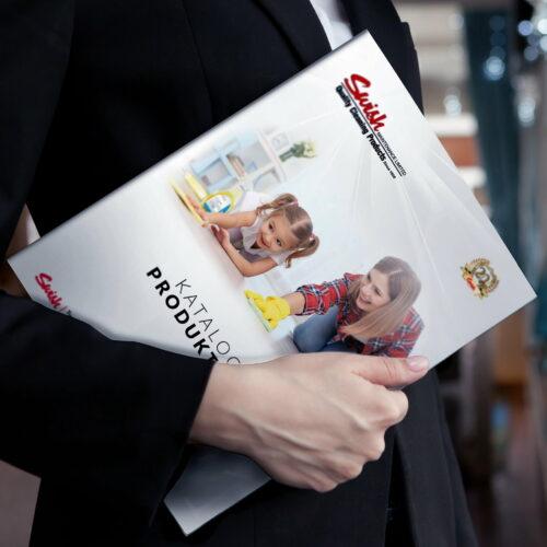 Projekt katalogu ze środkami czystości marki #swish