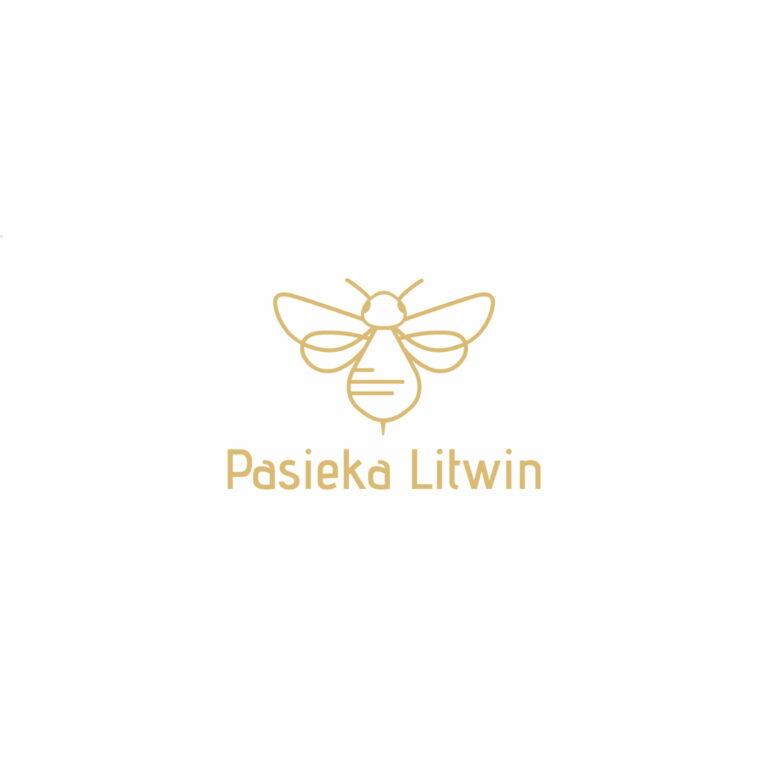 Projekt logo firmy spożywczej #pasieka-litwin