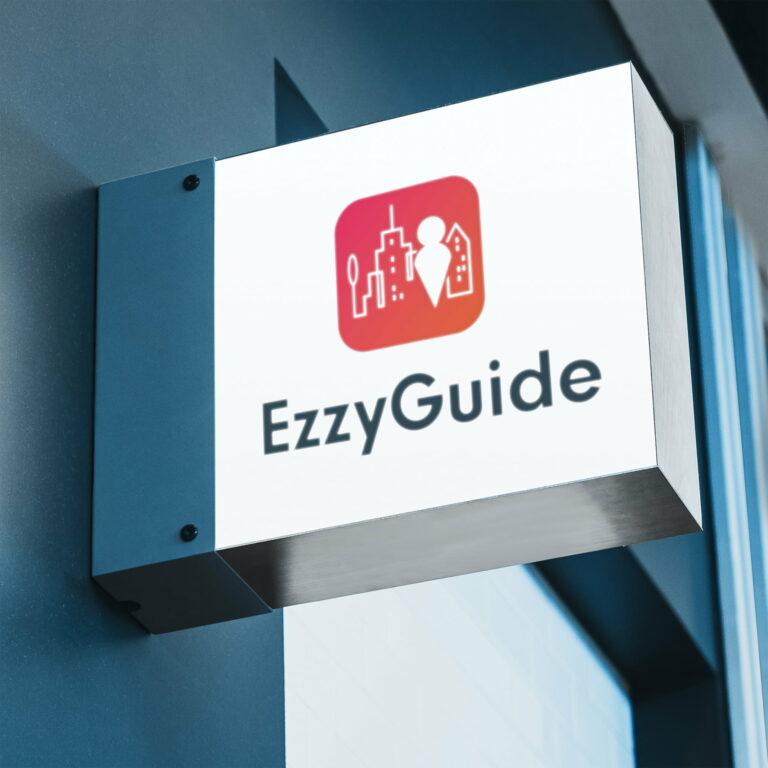 Baner z logo aplikacji turystycznej #ezzy-guide
