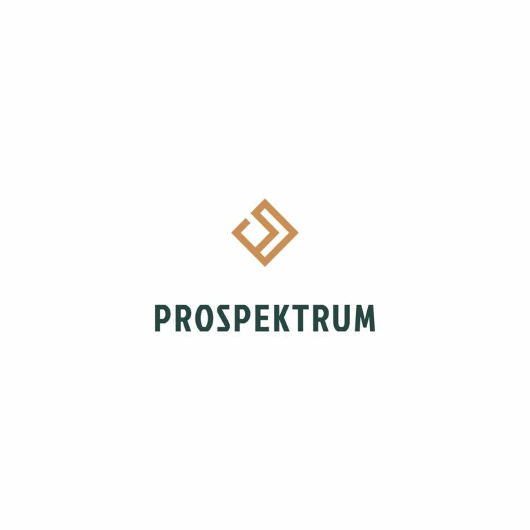 Projekt logo firmy zajmującej się realizacją projektów ze środków unijnych #prospektrum