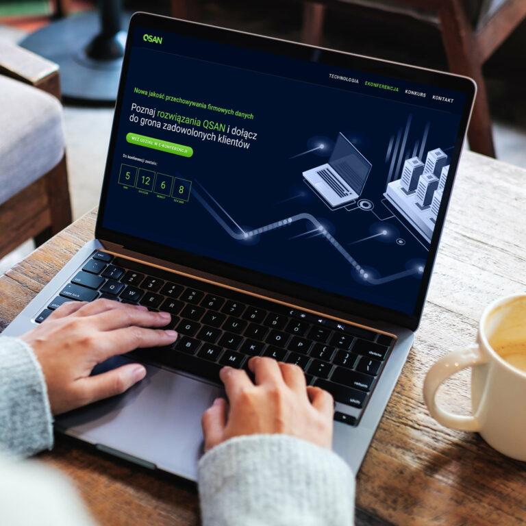 Projekt graficzny strony internetowej firmy it #qsan