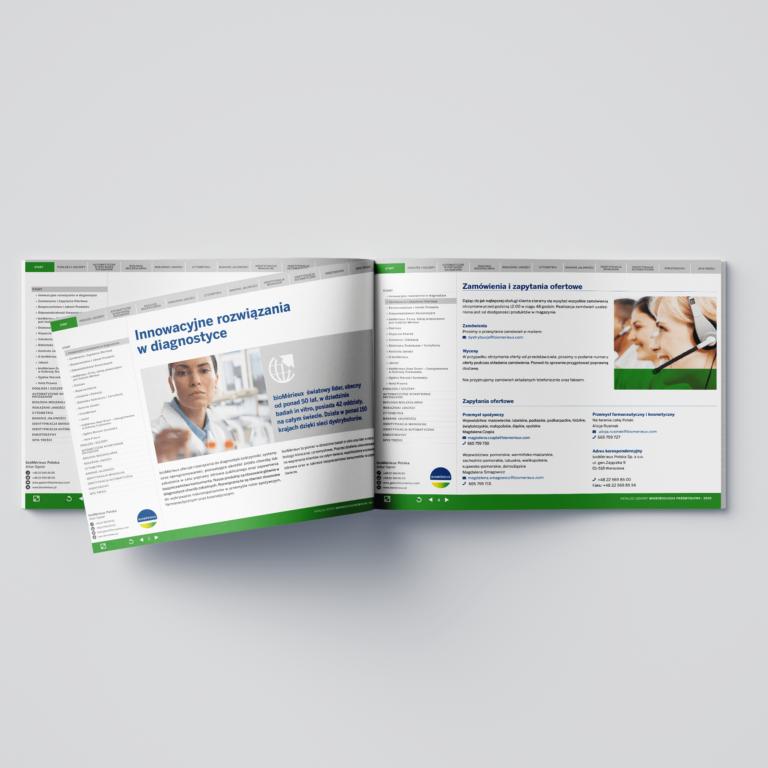 Folder reklamowy firmy medycznej #biomerieux