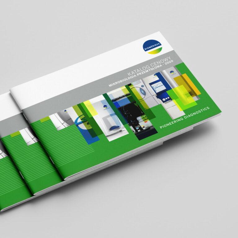 Katalogi medyczne marki #biomerieux zaprojektowane przez Studio Graficzne Wzór