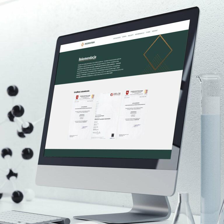 Prezentacja strony www firmy B2B #prospektrum