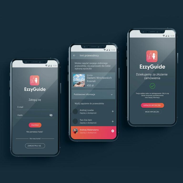 Projekt aplikacji turystycznej dla firmy #ezzy-guide