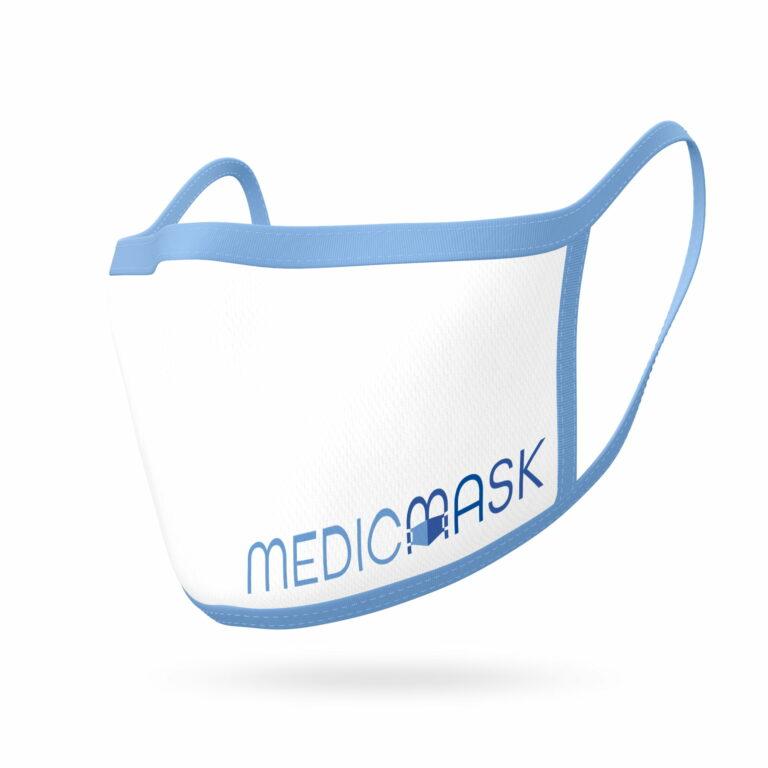 Wizualizacja maseczki z logo firmy #medicmask