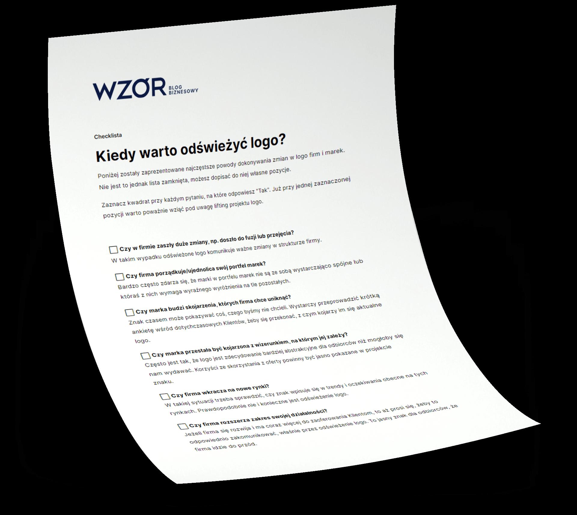Kiedy warto odswiezyc logo scenariusz rozmowy wzor | studio graficzne wzór | jak przekonać zarząd do odświeżenia logo? Checklista do pobrania |