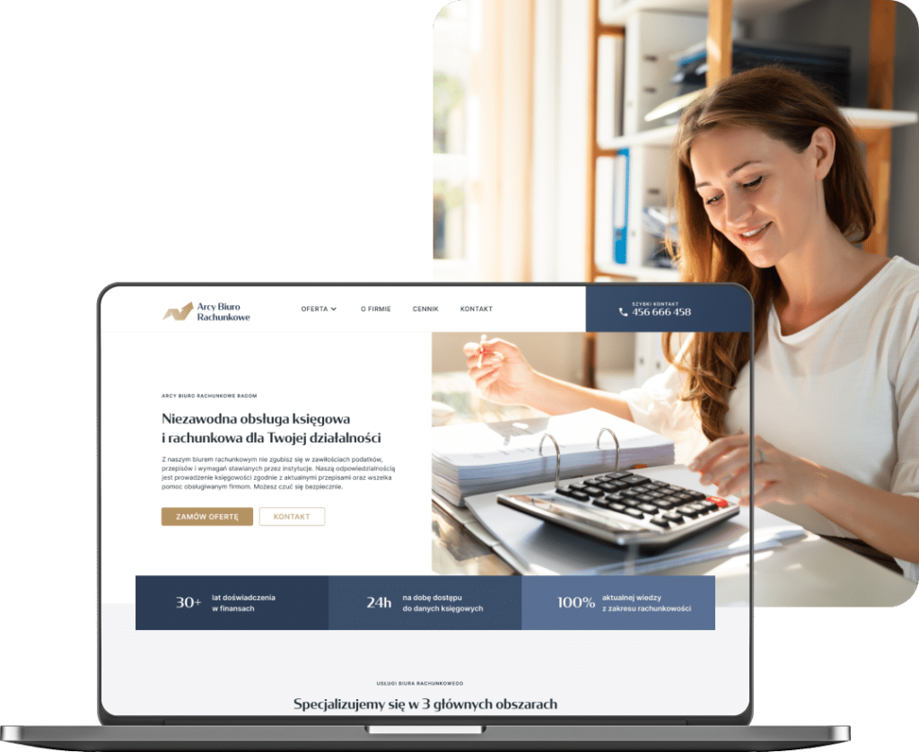 Projekt strony internetowej biura rachunkowego abr